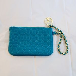 LIKE FOR PRICE DROP Turquoise & Gold Clutch Purse